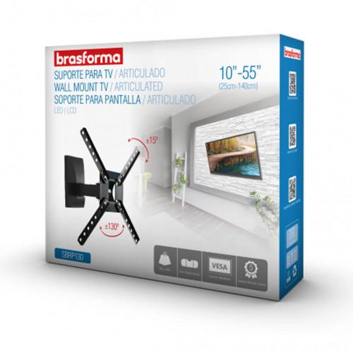 SUPORTE PRETO TETO TV LCD 10 A 55 BRAÇO ARTICULAVEL - BRASFORMA