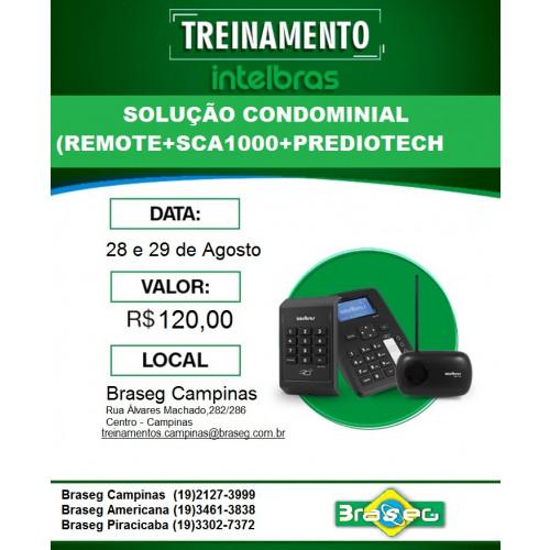 TREINAMENTO SOLUÇÃO CONDOMINIAL - REMOTE, SCA 1000 E PREDIOTECH - INTELBRAS 28 E 29 DE AGOSTO.
